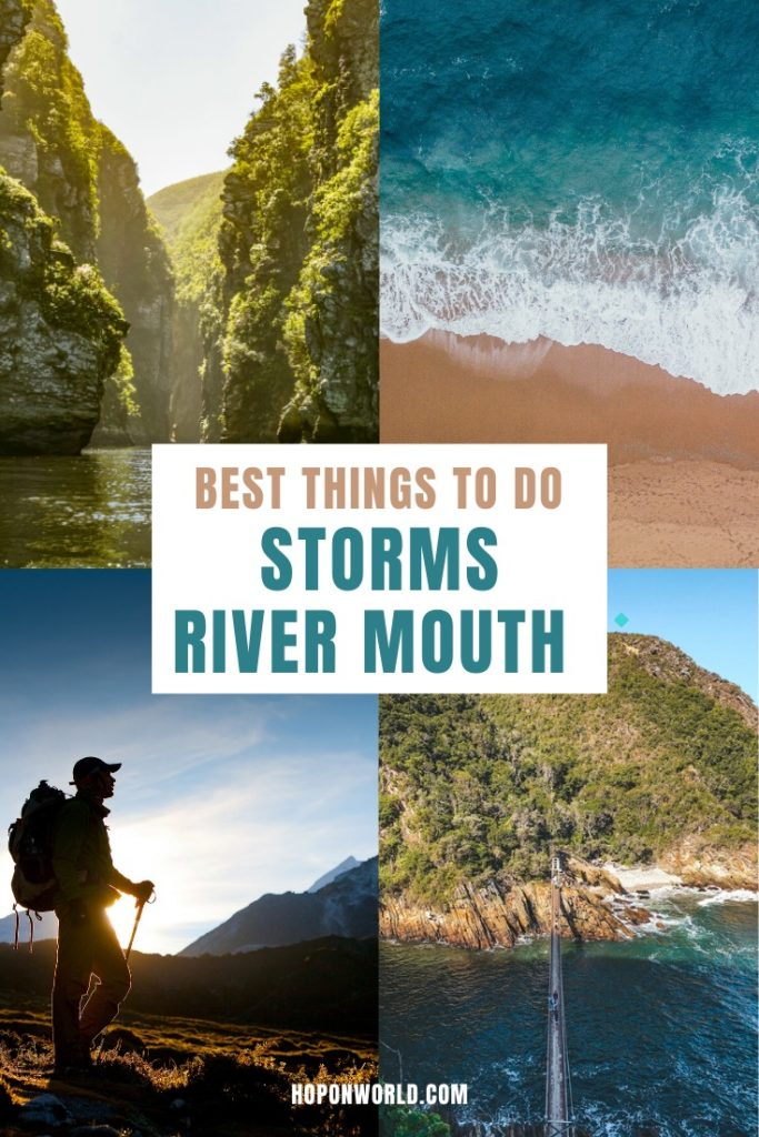 Storms River Mouth, South Africa // Exploring the Garden Route soon? Then be sure to add Storms River Mouth Rest Camp to your travel plans. This guide sets out all the best things to do at Storms River Mouth - from gorgeous hikes to fun adventure activities. Plus, get top insider's tips to help you plan the perfect trip to this scenic gem. //What to do / When to visit/ Pre-travel Tips/ Packing guide// #gardenroute #southafrica #travel #stormsriver #stormsrivermouth #hiking #adventuresports #nature