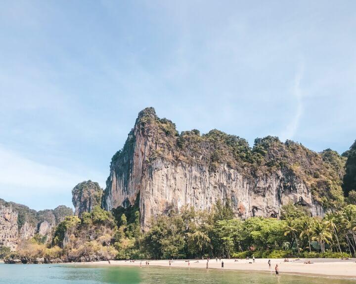 Exploring Krabi's diverse and tranquil coastline.