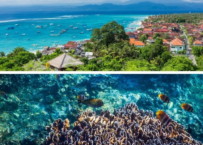 Exploring the colorful waters of Nusa Lembongan is a must-do when spending 1 week in Bali.