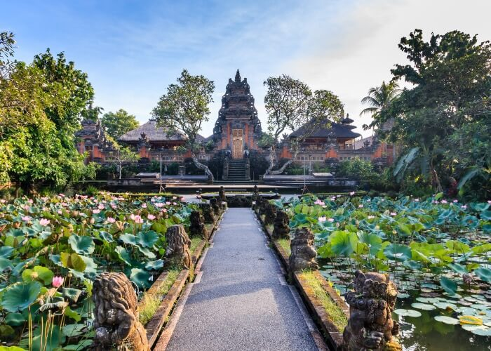 ubud is home to some of the best places to stay in Bali. staying close to the Saraswati temple is highly encouraged.