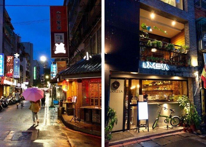 the alleyways in Daan District, Taipei