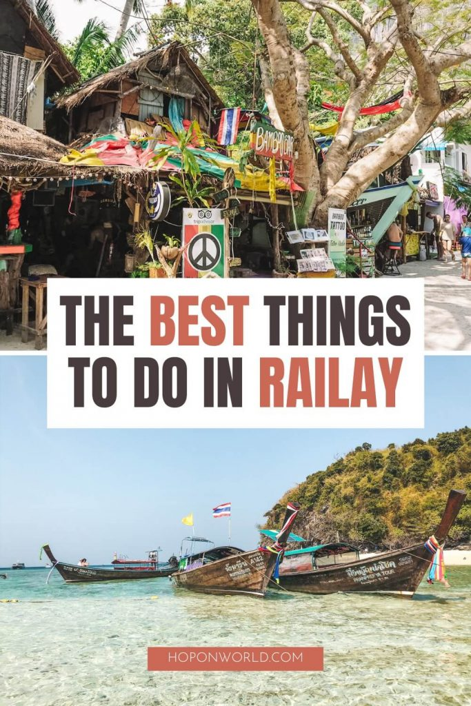 Planning a trip to Thailand's dreamy Railay Beach and wondering what to do? Follow my super detailed Railay travel guide to find the best things to do in Railay Beach, where to stay and eat and much more! railay beach | railay beach thailand | railay beach krabi | thailand beautiful places | things to do in railay beach | railay beach thailand rock climbing | railay beach thailand sunsets