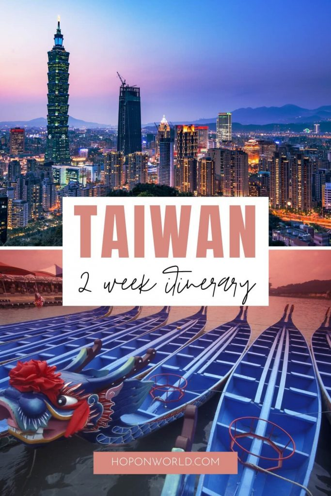 If you're planning a trip to Taiwan, you're probably wondering what to do and where to go. Follow this EPIC fully-flexible Taiwan itinerary to find the best things to do in Taiwan in 2 weeks! Taiwan itinerary | taiwan itinerary 2 weeks | taiwan itinerary travel | taiwan places to visit | taiwan beautiful places | things to do in taiwan | top things to do in taiwan