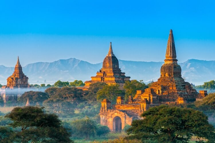 Bagan is one of the most famous landmarks in Asia.