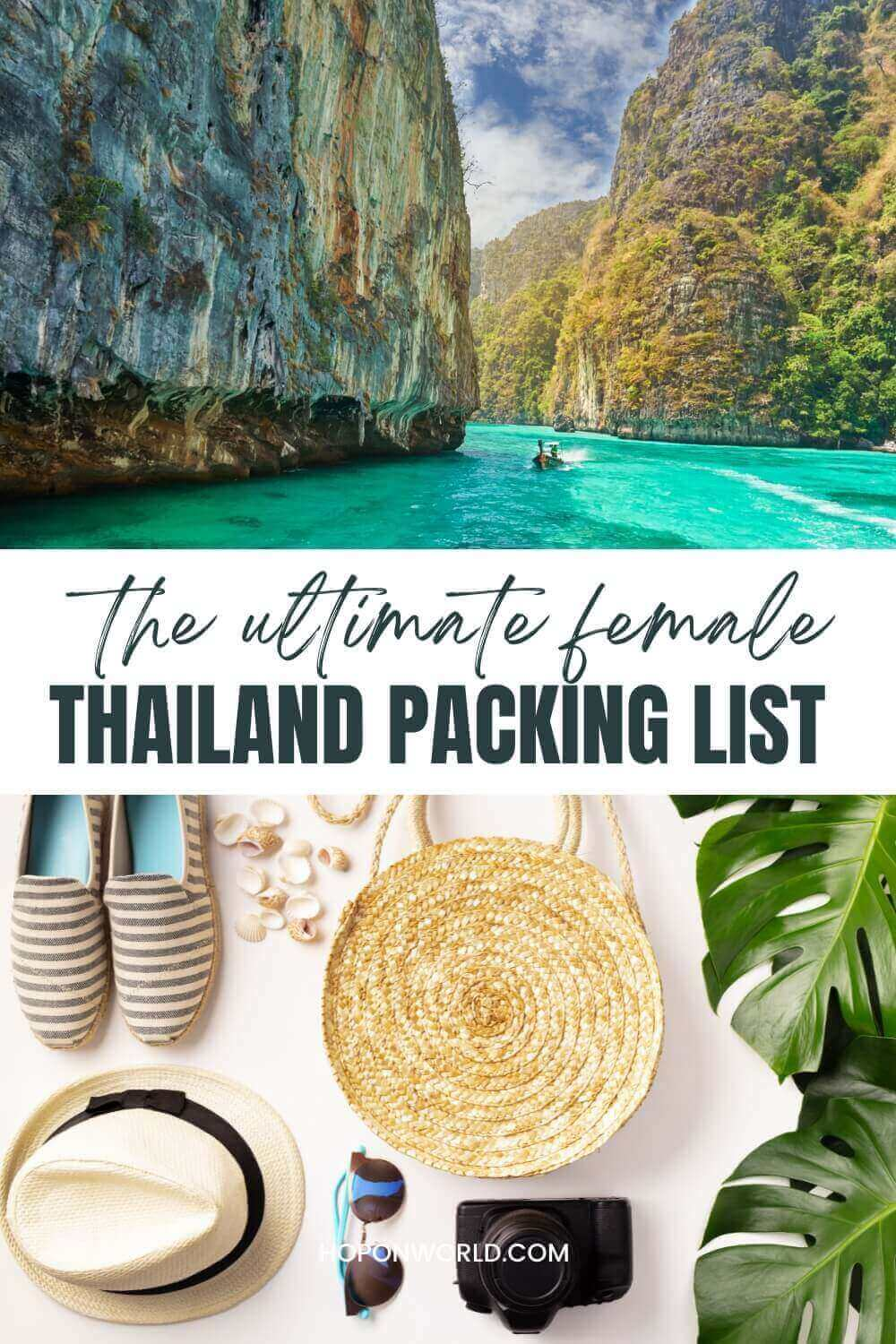 Planning a trip to Thailand and wondering what to pack? Use this super handy Thailand packing list to help you figure out what essentials to bring along for a seamless Thailand trip! thailand packing list | thailand packing list for women | traveling to thailand packing lists | packing list for thailand | thailand trip | thailand travel clothes outfits