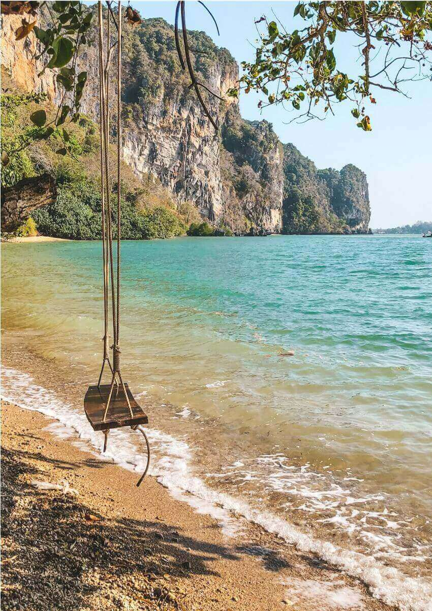 swing on beach at railay great view resort