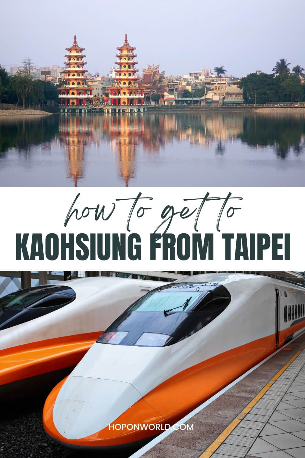 Planning a trip to Kaohsiung City from Taipei but not sure how to get there? Here's a detailed transport guide to help you find the easiest route from Taipei to Kaohsiung for you! Kaohsiung Taiwan | Kaohsiung Taiwan travel | Taiwan transportation | Kaohsiung travel